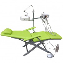 TB ® DZDY-3 Portable Dental Folding Chair with LED Light,Spittoon Basin & Turbine Unit