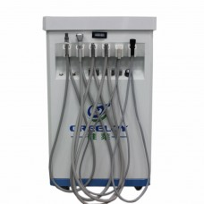 Dental Delivery Unit Mobile Cart Self-contained Compressor+Scaler+Curing Light
