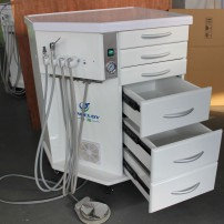 2017 New Greeloy®Portable Dental Mobile Delivery Unit +Air Compressor+LED Fiber HP Tube 6H New