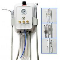 Portable Dental Turbine Unit Mount on Rack/Bracket+ Air Compressor 3-way Syringe