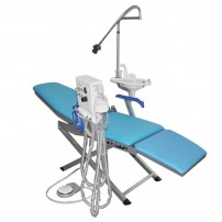 Dental Portable Chair+LED Light Lamp+Triplex Syringe+Suction+Turbine Unit