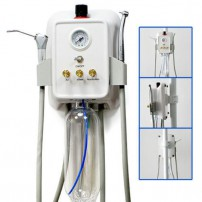 Portable Dental Turbine Unit Wall Mounted 3-way Syringe+Air Compressor Connector