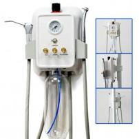 Portable Dental Turbine Unit Wall Mounted 3-way Syringe+Air Compressor Connector