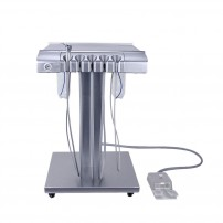 Mobile Dental Unit Delivery Cart Pneumatic Elevation Fully Metal with two bottle