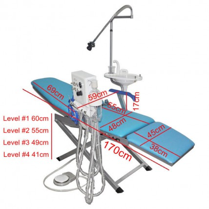 New Dental Portable Folding Chair Unit with Flushing + Water Supply System