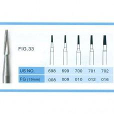 1.6mm Taper Fissure Carbide Burs FG 100PCS
