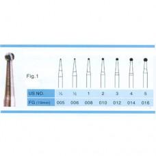 1.6mm Carbide Burs FG 100PCS