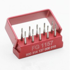 10Pcs Dental Tungsten Carbide Steel Burs For High Speed Handpiece FG1157