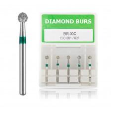 100PCS Diam Dental Diamond Burs 1.6mm FG BR-31C