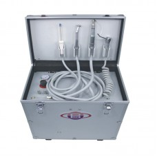 Portable Dental Turbine Unit BD-402 + Air Compressor +Suction System + Triplex Syringe