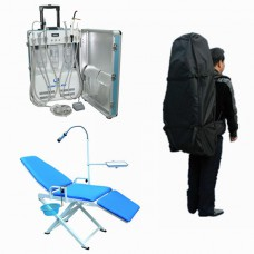 Dental Portable Dental Unit GU-P206 + GU-109 (A) 360° Dental Chair + Storage Bag