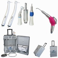Greeloy® Portable Dental Unit GU- P206+ Luxury Jet Air Polisher + Jinme® Dental Handpiece Unit