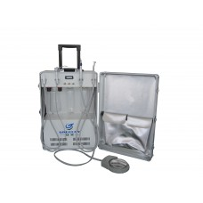 Greeloy® Dental Unit  Portable with Air Compressor Suction GU-P204