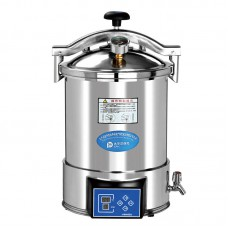 18L Portable Stainless Steel High Pressure Steam Autoclave Sterilizer CE Class N
