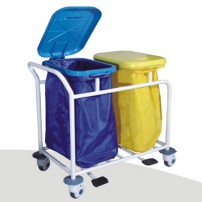 Dental Waster Collecting Cart Stainless Steel Trolley Cart ZL-J-W12