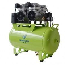 60L Noiseless Oilless Dental Air Compressor 310L/min 1-Driving-4 Stable GA-82